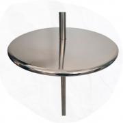Mesa Redonda para Piscina em Inox Bar Molhado - 60cm