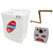 Sauna Vapor 15kw 380 Trif + Kit Instalação + Quadro Analógico Sodramar - 25m³