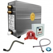 Sauna Vapor Impercap 12kw 220tri + Tubo Aço + Comando Digital Impercap