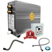 Sauna Vapor Impercap 9kw 220 Bif + Tubo Aço + Comando Digital Impercap