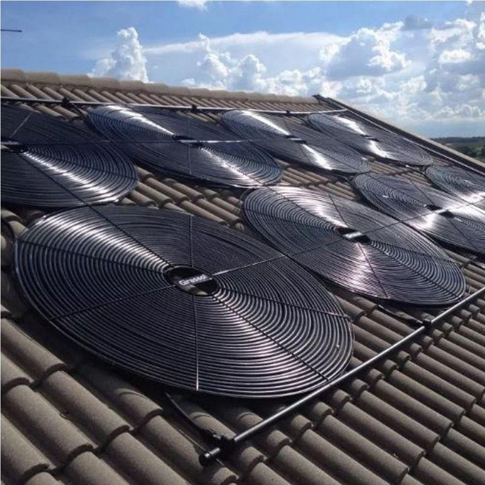 Aquecedor Solar para Piscina 8.000 L 8m³ - Girassol Espiral