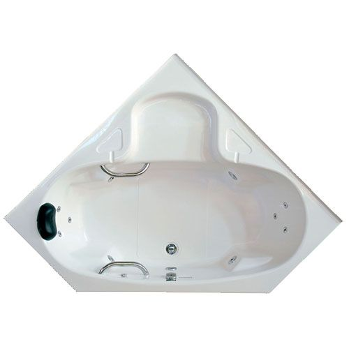 Banheira Hidro Anguli II COMPLETA - Jato de Hidro, LED (1,92x1,40)