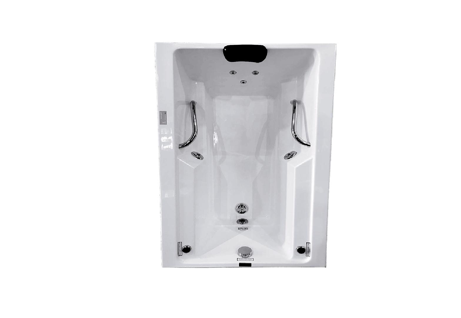 Banheira Hidro Rubi II COMPLETA - Jato de Hidro, LED (1,50x0,90)