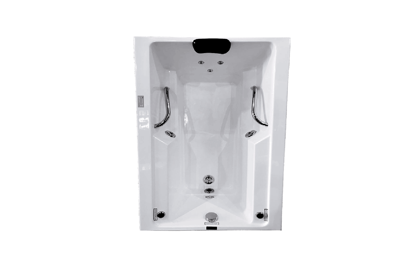 Banheira Hidro Rubi IV COMPLETA - Jato de Hidro, LED (1,20x0,80)