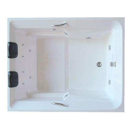 Banheira Hidro Rubi I COMPLETA - Jato de Hidro, LED (1,50x1,20)