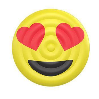 Boia Emoji olhos de coração para Piscinas