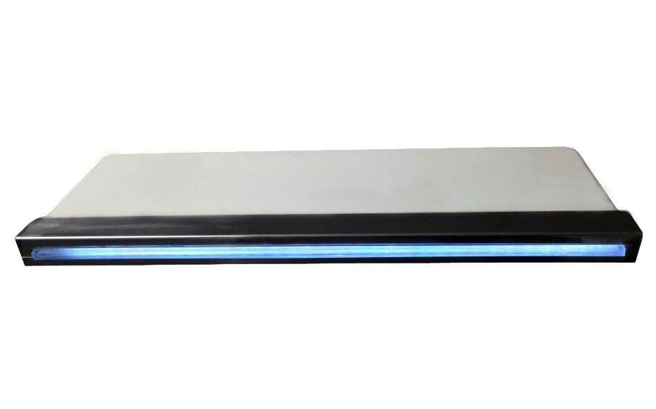 Cascata Inox com Led Embutir 120cm - Pooltec