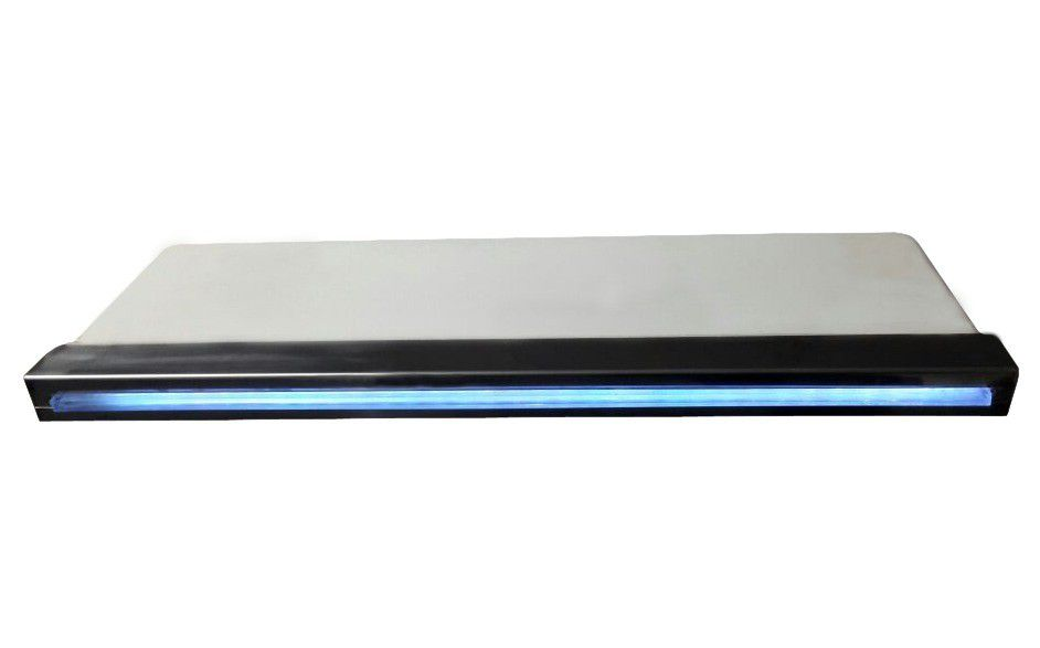 Cascata Inox com Led Embutir 40cm - Pooltec