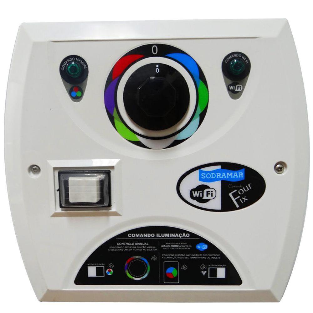 Central de Comando LED Piscina RGB Wifi Four Fix - Sodramar