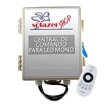Central de Comando Led Piscina Mono 2 Zonas  - 180w/15A