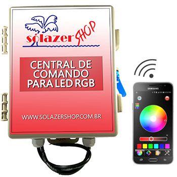 Central de Comando WiFi p/ Leds PISCINA RGB 10A/120W