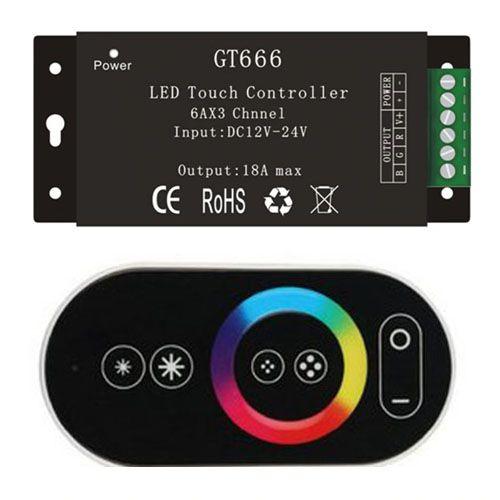 Controle Touch - Controlador de Fita Led Piscina - Rgb