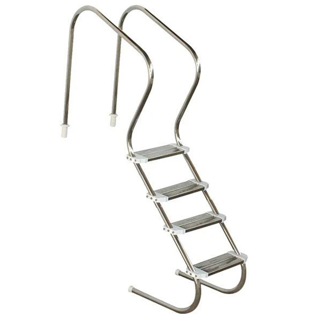 Escada aço inox 316 Confort 2' com 4 degraus duplos em aço inox