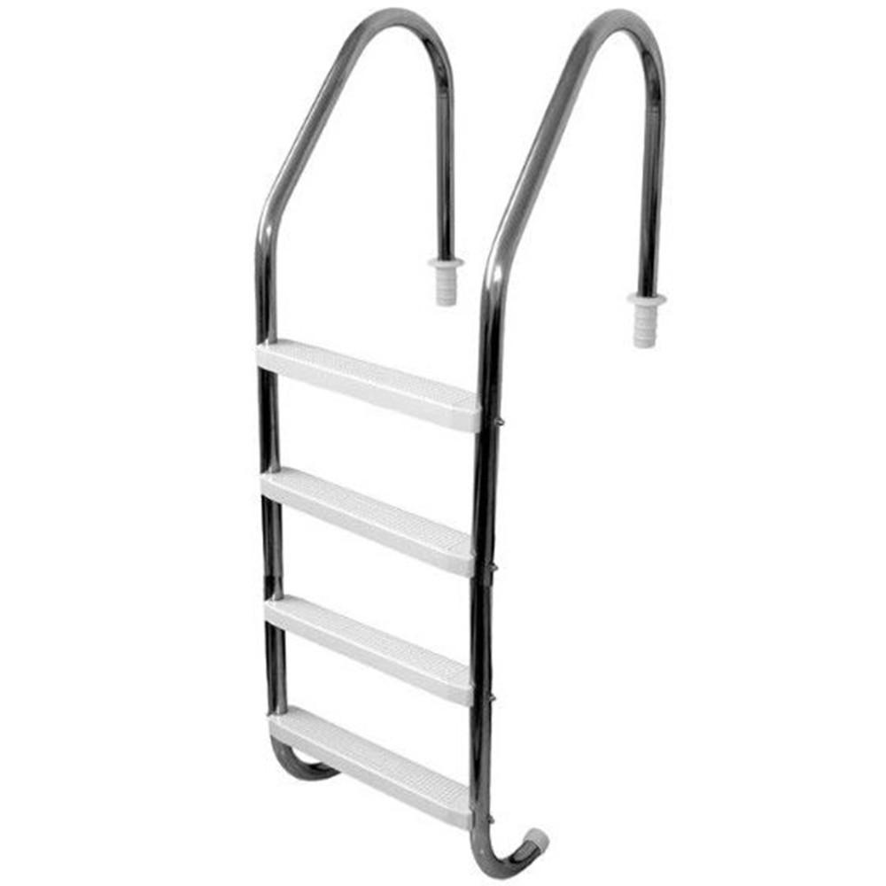 Escada para Piscina 4 degraus ABS - Sodramar Aço Inox 316