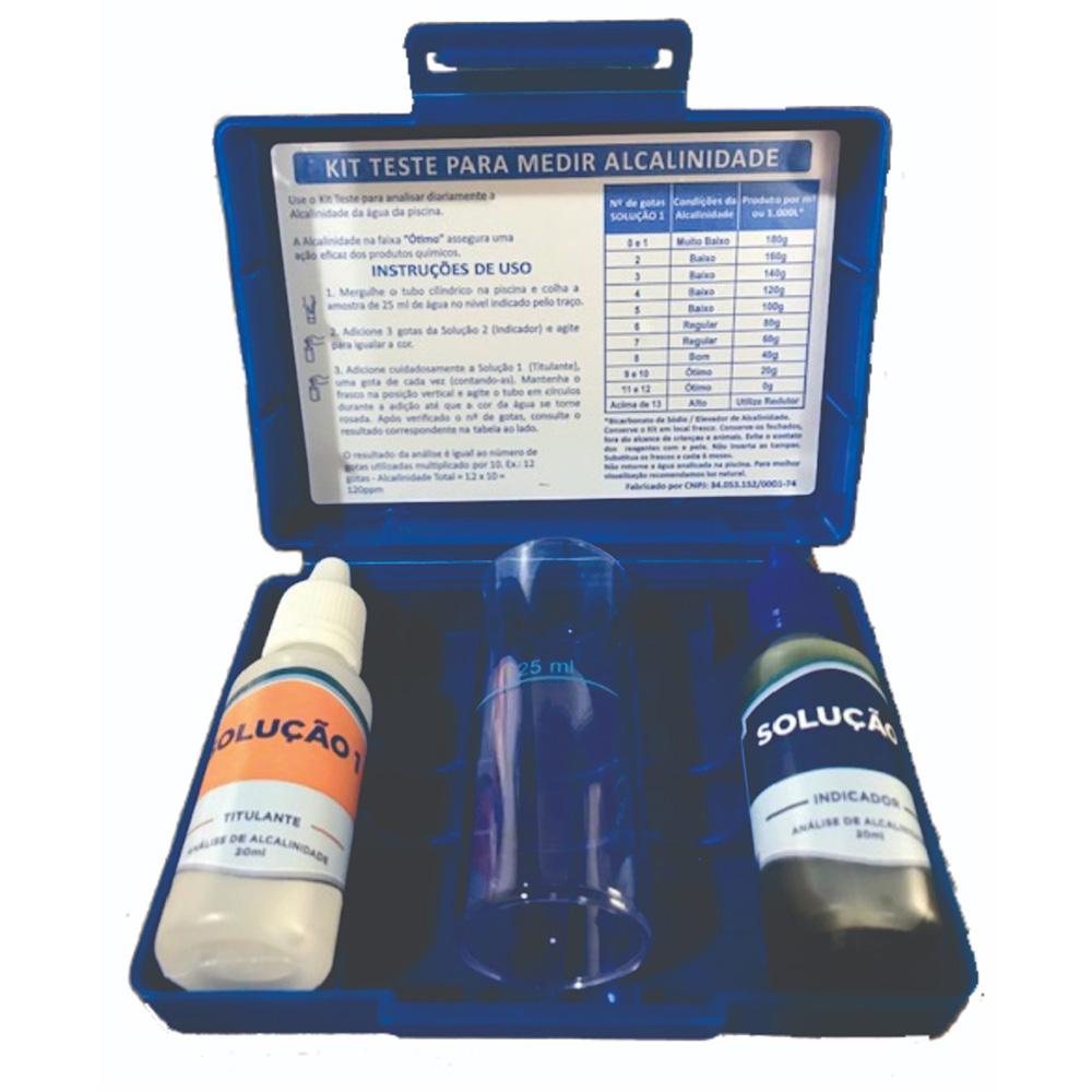 Estojo de Análise Piscina Medição Teste Alcalinidade