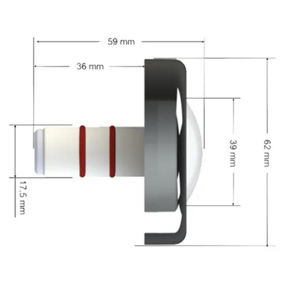 Iluminação Refletor Led Piscina Inox Mono 6W - Tholz