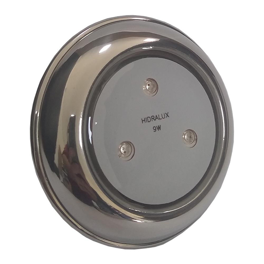 Iluminação Refletor LED Piscina RGB 9W Inox - Hidralux