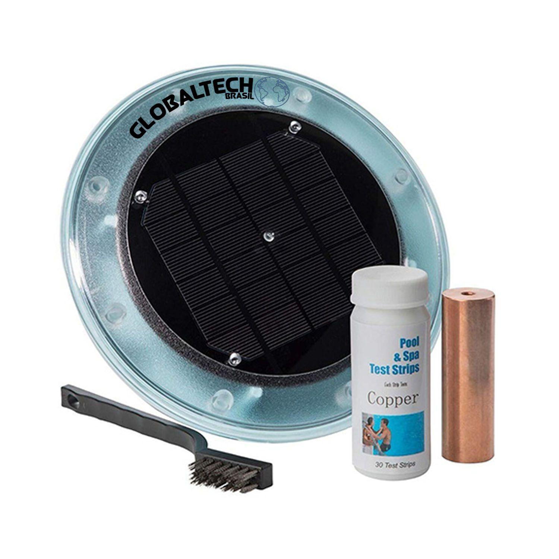 Ionizador Piscina Solar Compacto Globaltech Brasil até 80.000 L