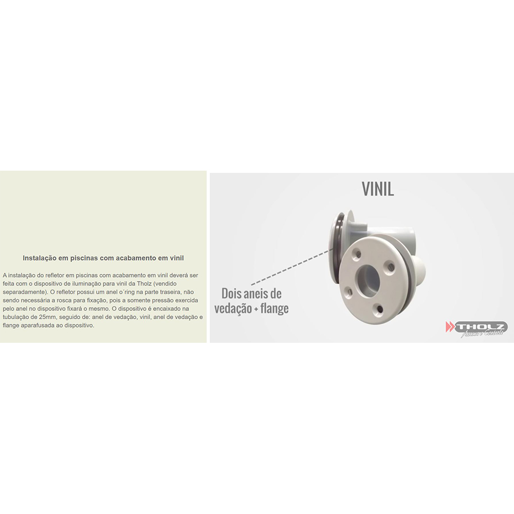 Kit 10 Led Piscina Inox RGB 9W + Central + Controle - Tholz
