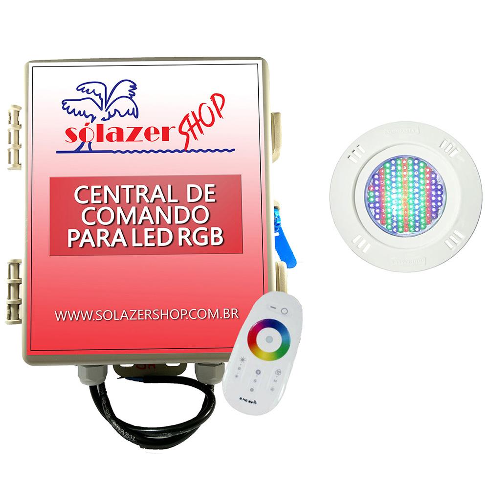 Kit 1 Led Piscina Pratic SMD 9w + Central Touch - Sodramar
