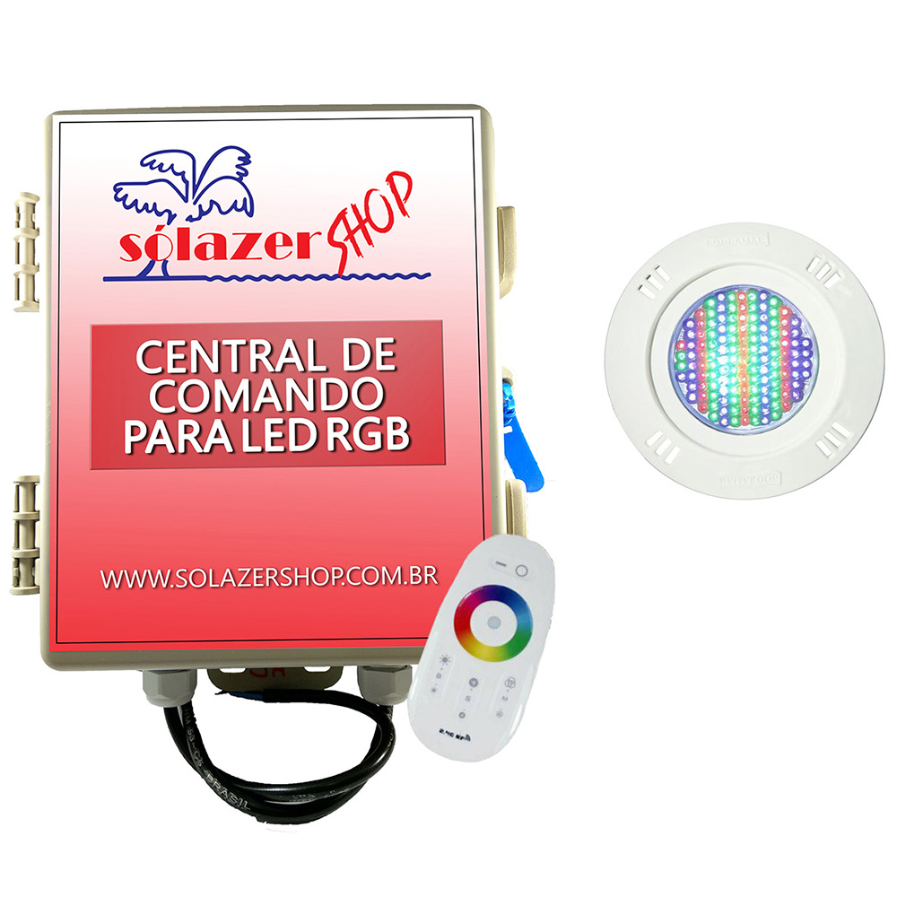Kit 1 Led Piscina Pratic SMD 5w + Central Touch - Sodramar