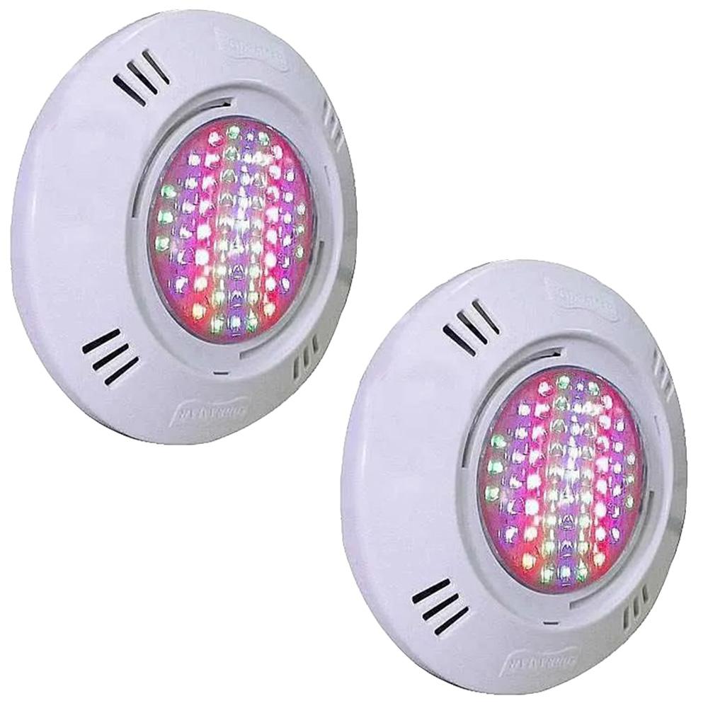 Kit 2 Iluminação LED Piscina SMD 5W RGB Colorido - Sodramar