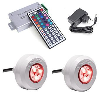 Kit 2 Leds Tec Light Coloridos com central compacta e Controle