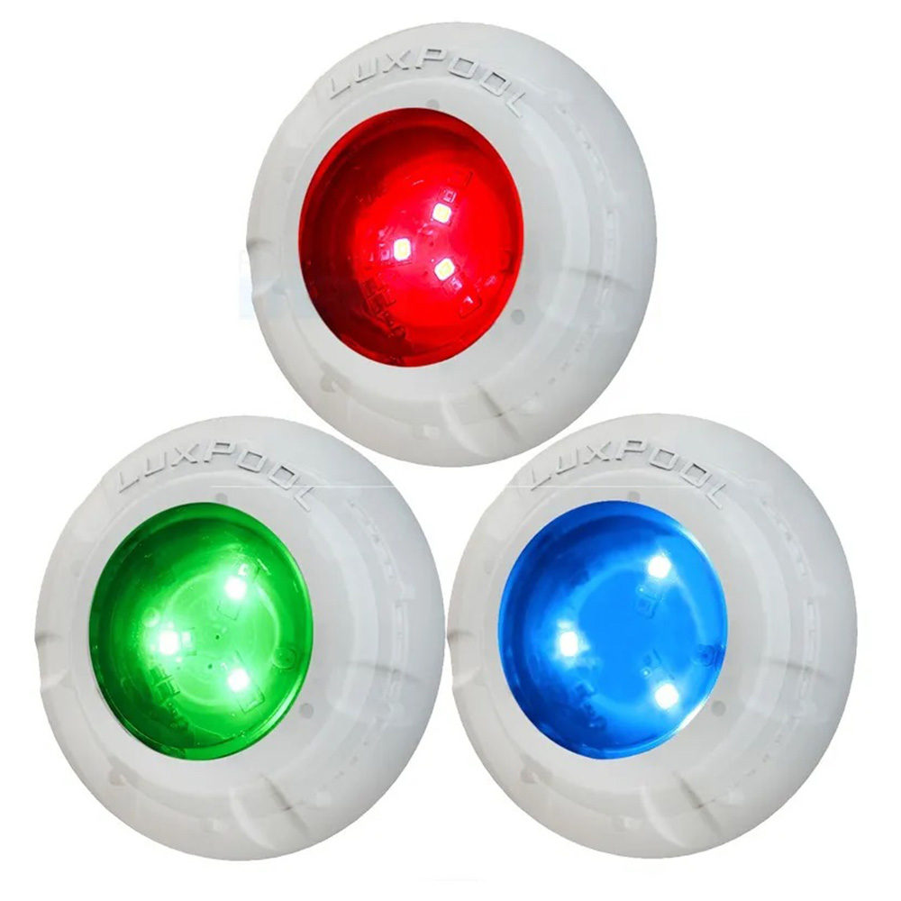 Kit 8 Led Piscina RGB 4W + Central + Controle Touch - Luxpool