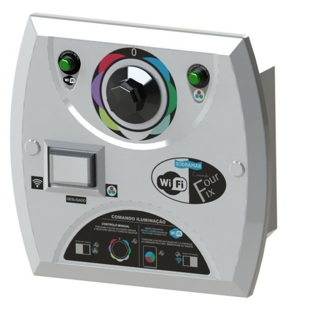Kit 8 LED Piscina RGB COB Colorido + Central Wifi Sodramar