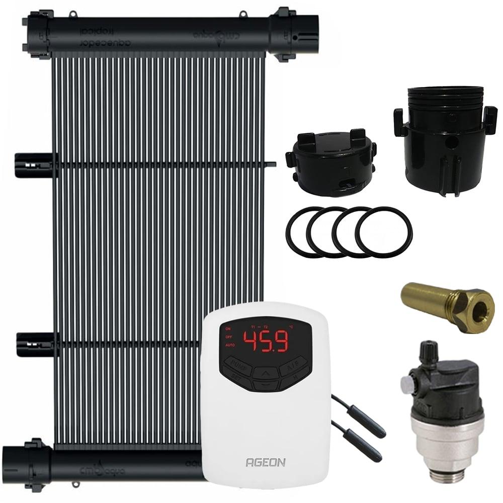 Kit Aquecedor Solar Piscina 100m² ou 140.000 L - CMB Aqua