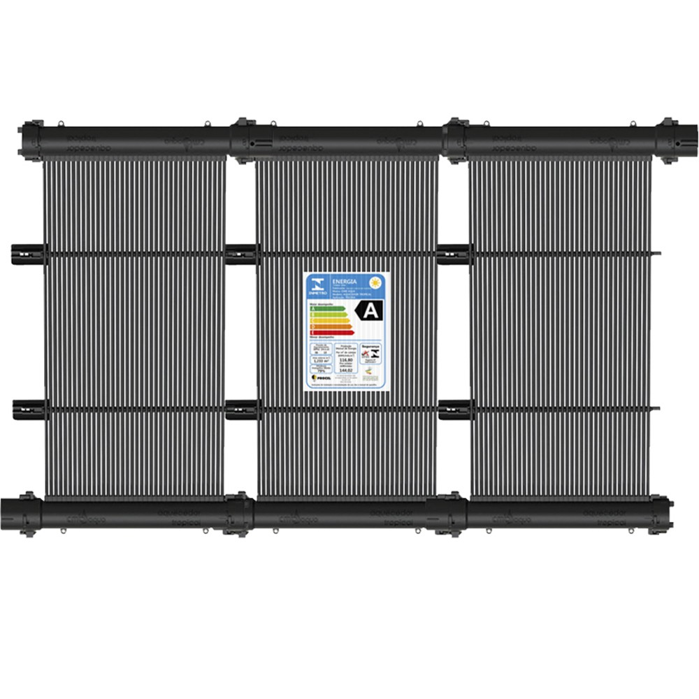 Kit Aquecedor Solar Piscina 15m² ou 21 000 L - CMB Aqua