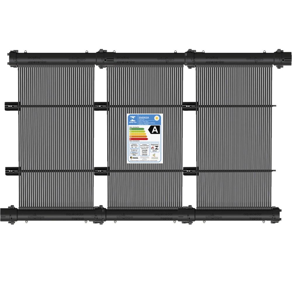 Kit Aquecedor Solar Piscina 72m² + Capa Térmica - CMB Aqua