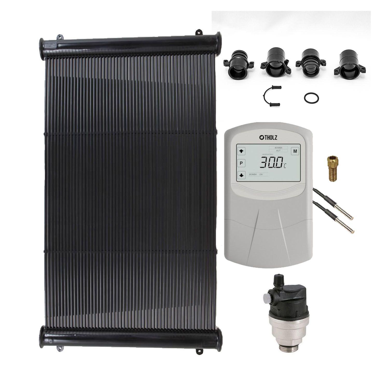 Kit Aquecedor Solar Piscina até 15m² ou 21.000L + Motor 1/2 CV Sodramar