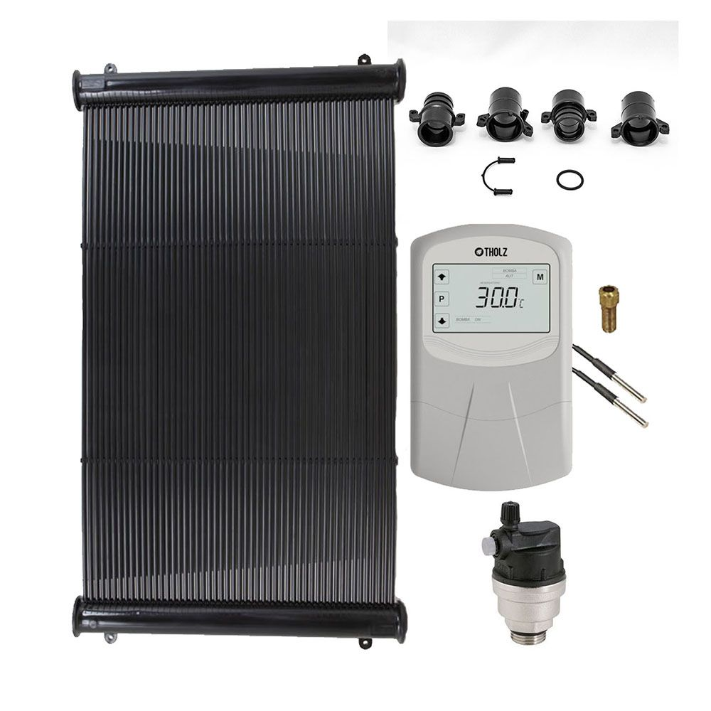 Kit Aquecedor Solar Piscina até 22m² ou 30.000L + Motor 1/2 CV