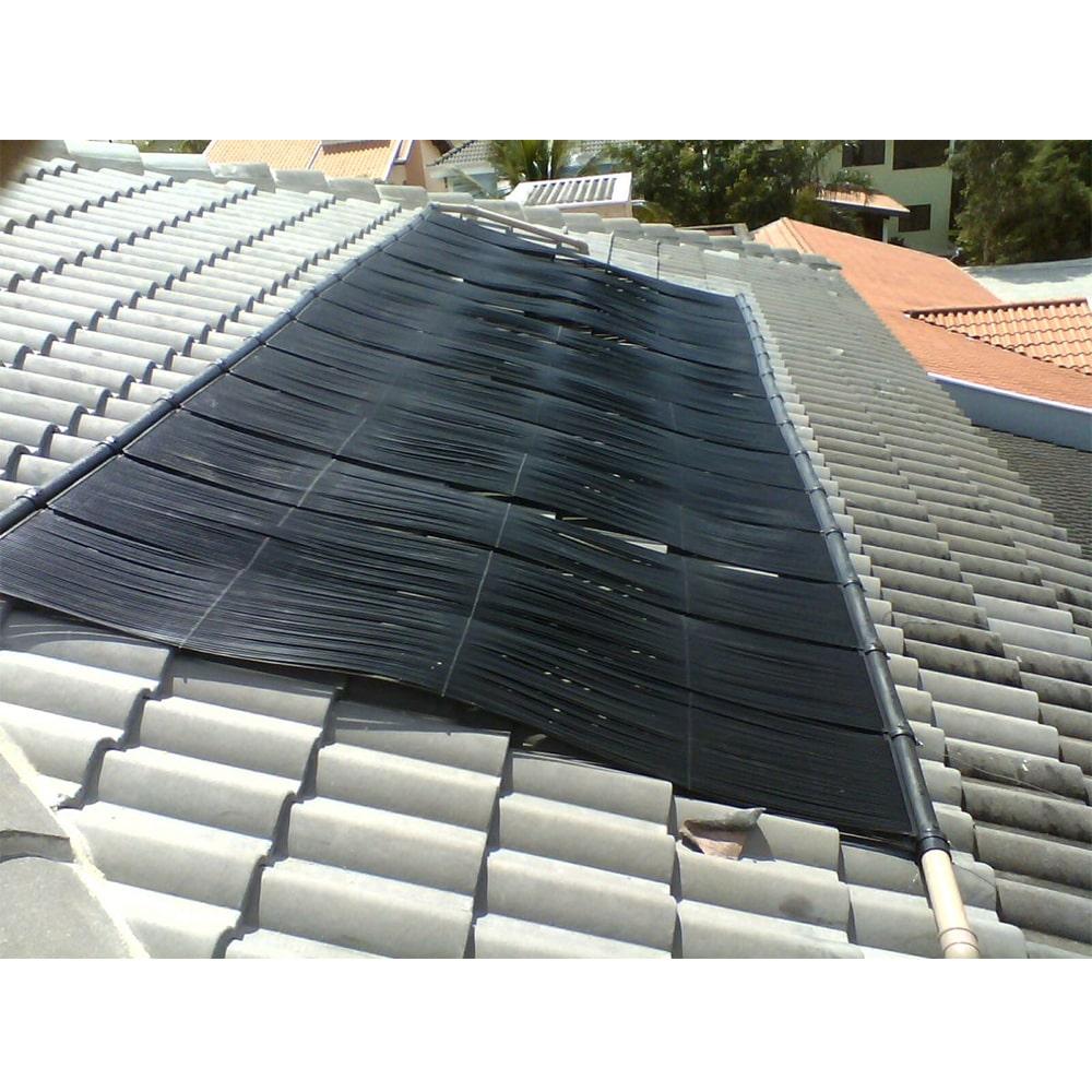 Kit Aquecedor Solar Piscina até 26m² + Capa + Motor 1/2 CV - CMB Aqua