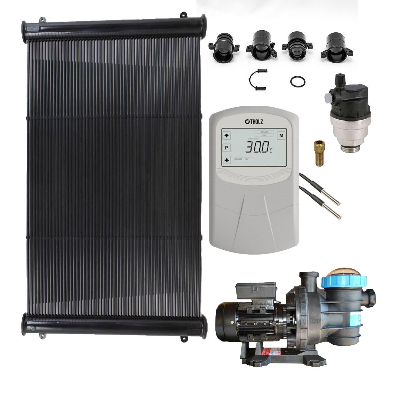Kit Aquecedor Solar Piscina até 30m² ou 42.000 L com Motor
