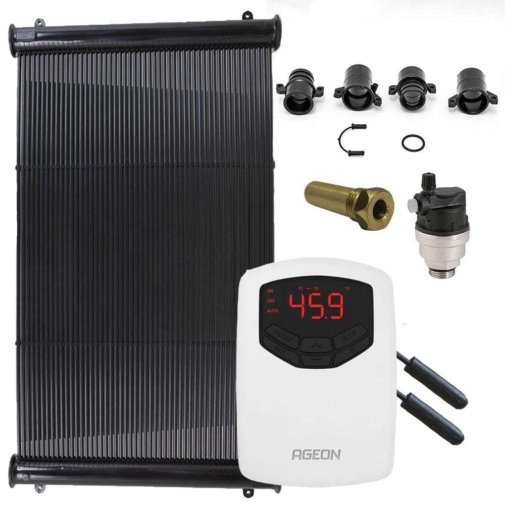 Kit Aquecedor Solar Piscina até 30m² ou 42.000 L