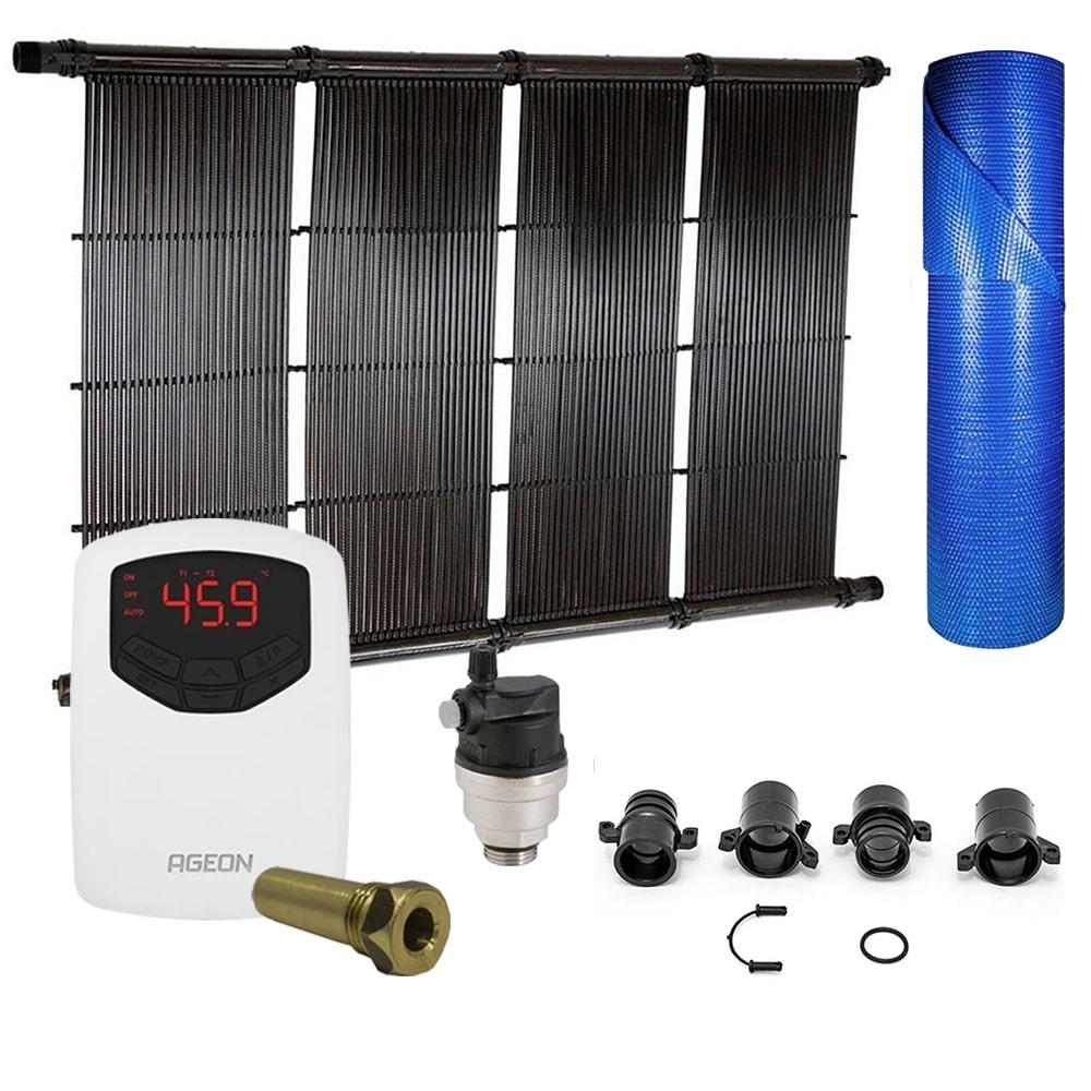 Kit Aquecedor Solar Piscina até 30m² ou 42.000L + Capa Termica