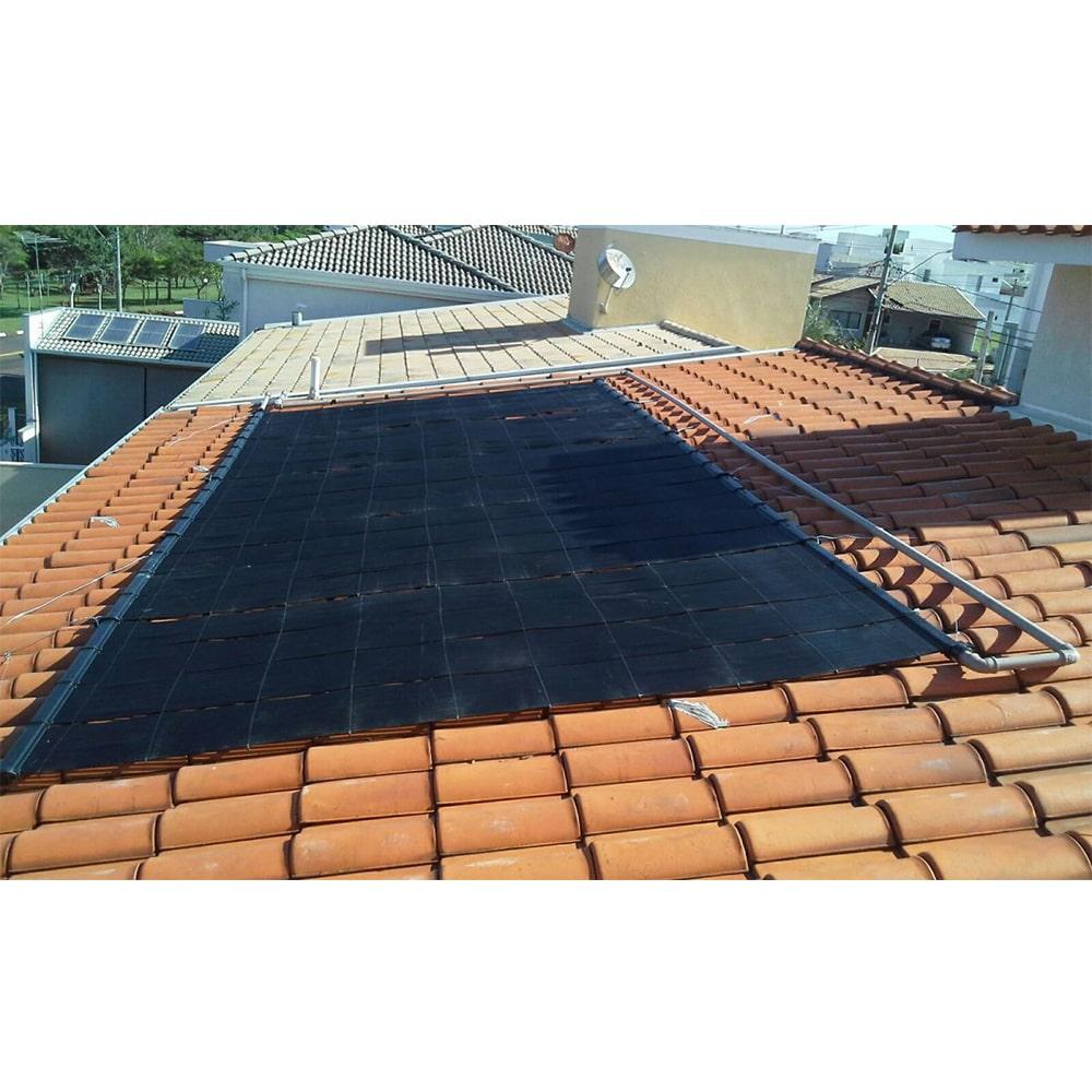Kit Aquecedor Solar Piscina até 50m² + Capa + Motor 1/2 CV - CMB Aqua