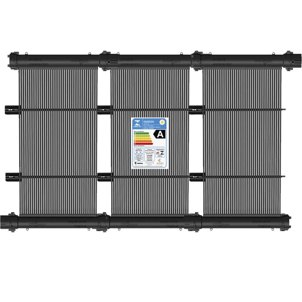 Kit Aquecedor Solar Piscina até 6m² + Capa + Motor 1/2 CV - CMB Aqua