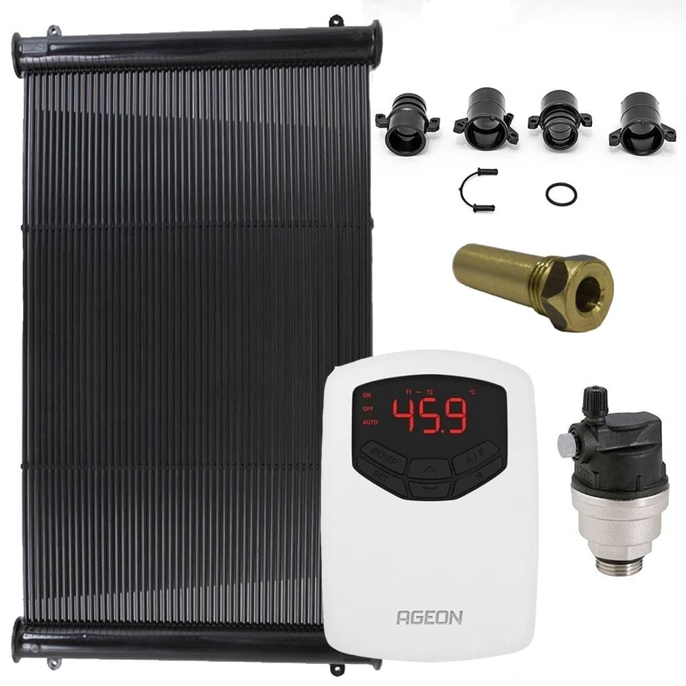 Kit Aquecedor Solar Piscina até 90m² ou 126.000 L