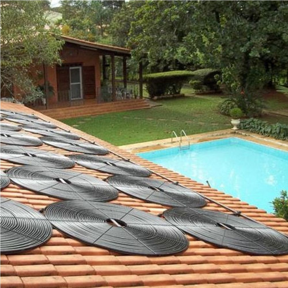 Kit Aquecedor Solar Piscina Girassol 48.000 L + Bomba + Capa