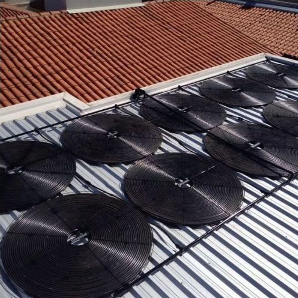 Kit Aquecedor Solar Piscina Girassol 64.000 L - 16 Placas