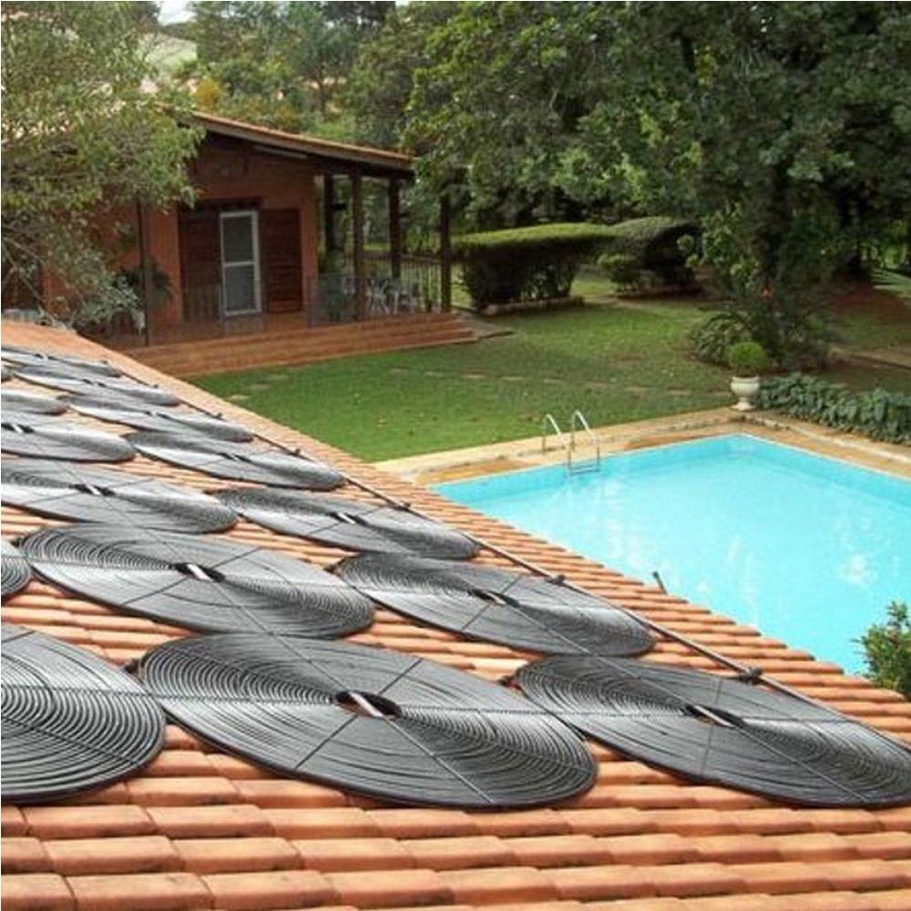 Kit Aquecedor Solar Piscina Girassol 80.000 L + Bomba + Capa
