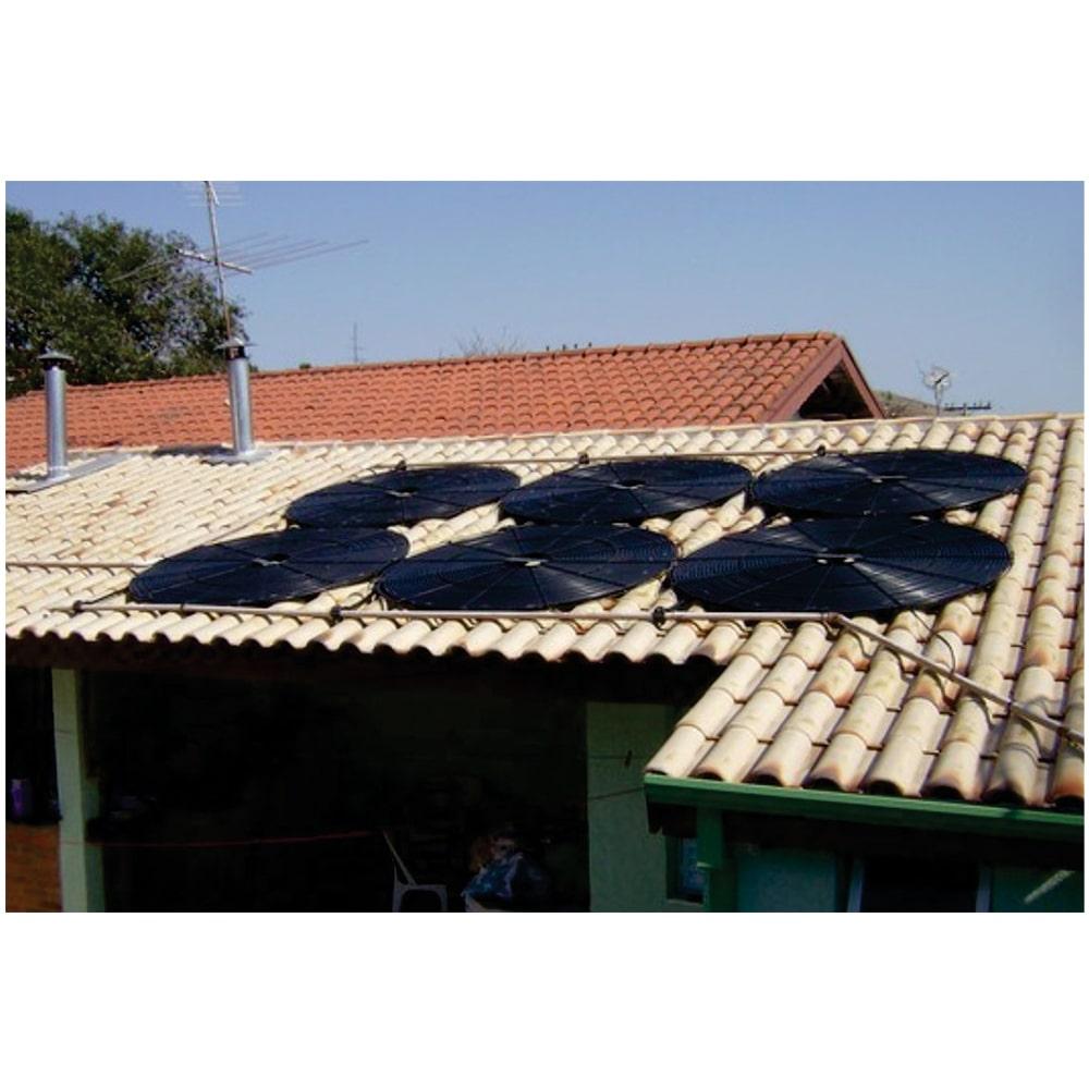 Kit Aquecedor Solar Piscina Girassol até 64.000 L + Bomba