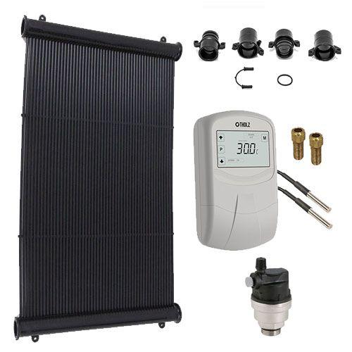 Kit Aquecimento Solar para Piscinas até 20m² - KS Aquecedores
