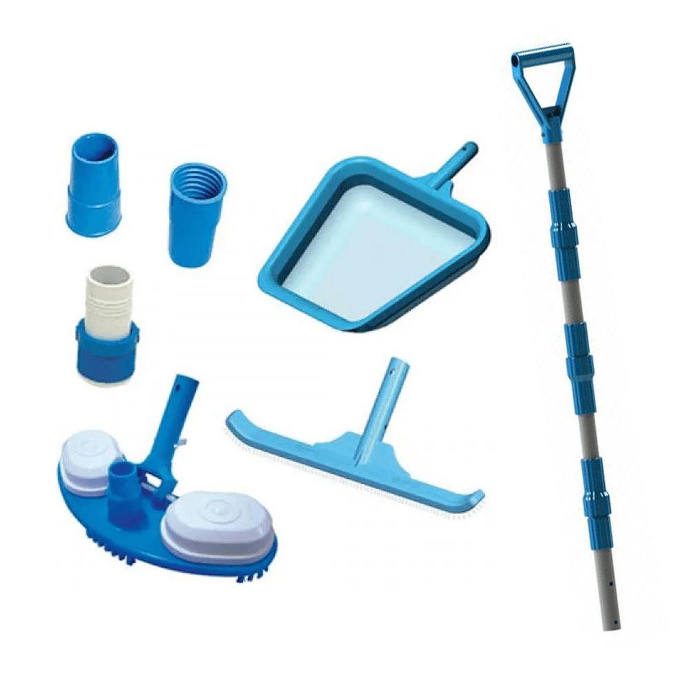 Kit de Limpeza Piscina Aspiração Cabo Telescópico – Sodramar