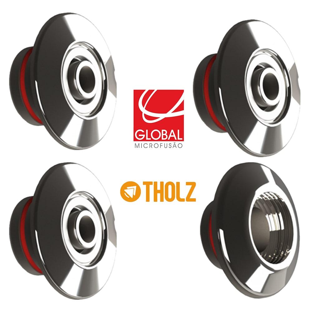 Kit Dispositivo 3 Retorno e 1 Aspiração Tholz - Inox 316