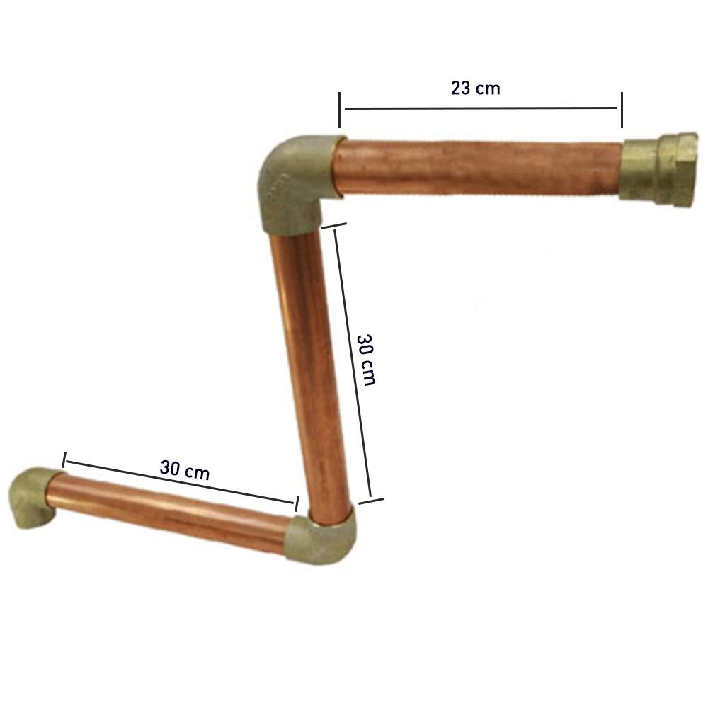 """Kit Instalação Tubo Sauna Sodramar 2"""" (15,18, 24 e 27kW)"""