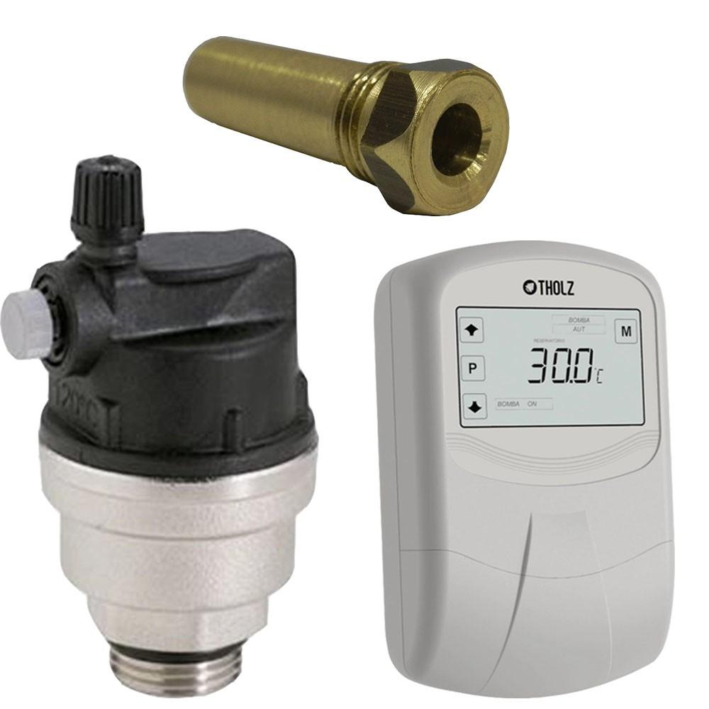 Kit MMZ + Válvula Eliminadora de Ar + 1 Poços Termométricos
